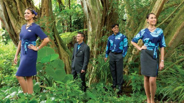 Los nuevos uniformes de Hawaiian Airlines