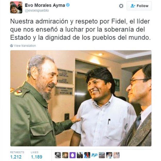 Cuenta Twitter de Evo Morales