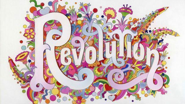The Beatles Illustrated Lyrics, 'Revolution' 1968 by Alan Aldridge