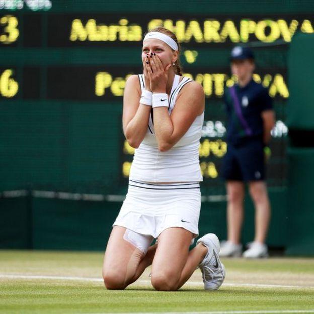 La tenista checa sorprendió al mundo cuando venció a la rusa Maria Sharapova en 2011.