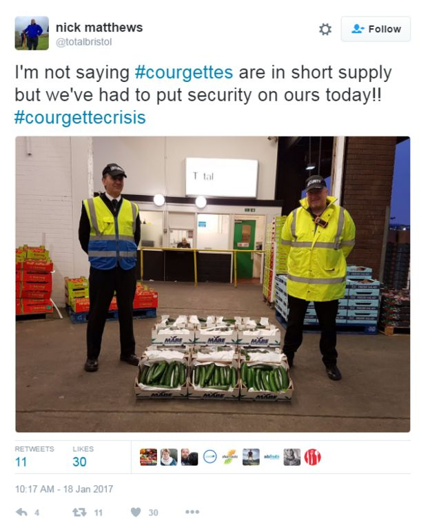 Courgette crisis tweet