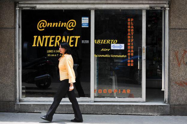 Cibercafé en Caracas