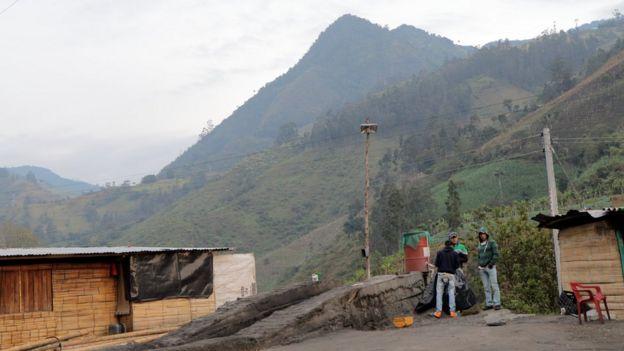 La montaña La Colosa.