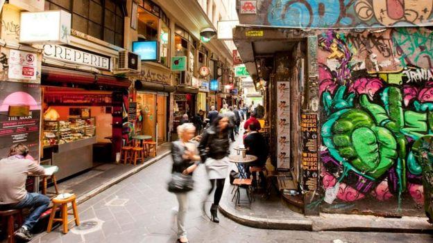 En las calles de Melbourne