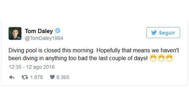 Tuite de Daley sobre el cierre de la piscina