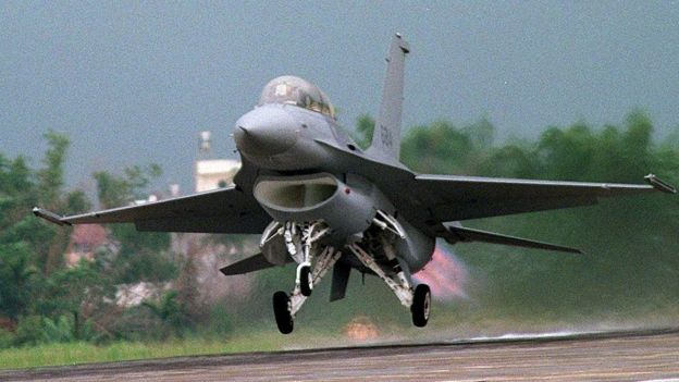 資料圖片:台灣的F16戰鬥機