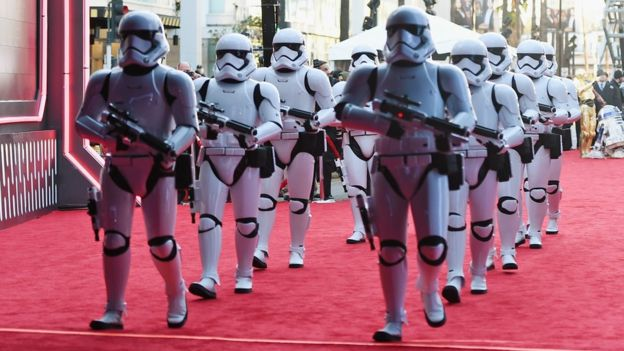 Stormtroopers at The Force Awakens premiere in Los Angeles