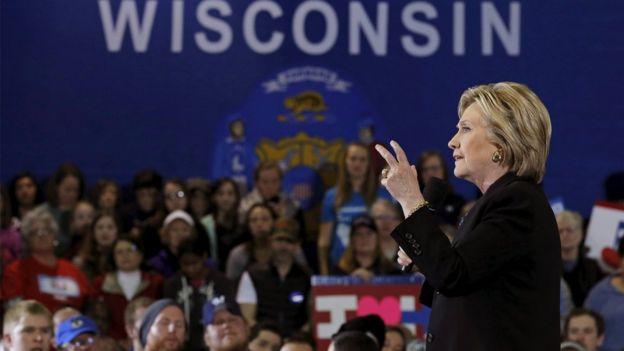 Ứng viên của đảng Dân chủ, bà Hillary Clinton