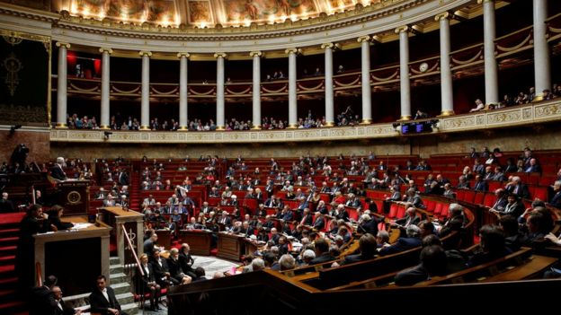 The French National Assembly in Paris