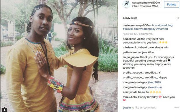 Caster Semanya s'est mariée ce week-end