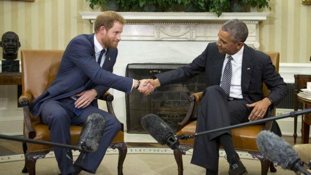Prince Harry meets Barack Obama