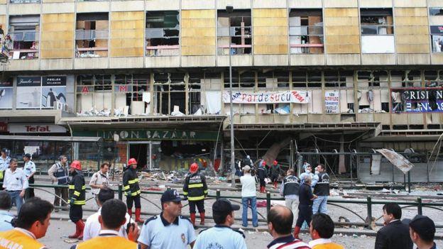 2007'de Ankara Anafartalar Caddesi'den gerçekleştirilen saldırı sonrası olay yeri.