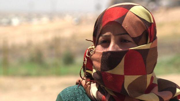 Marwa, a released Yazidi woman
