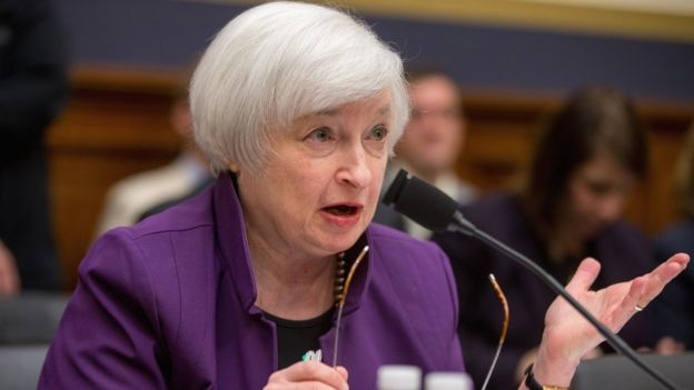 Federal Reserve Chair Janet Yellen testifies on Capitol Hill in Washington, Wednesday, Nov. 4, 2015.