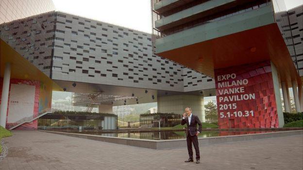 Wang Shi at the headquarters of Vanke