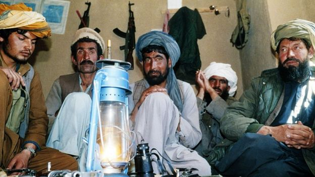 Muyahidines en Afganistán.