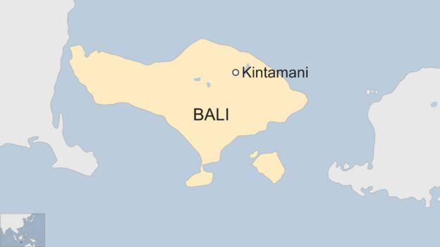 Kintamani on Bali Haritası Endonezya