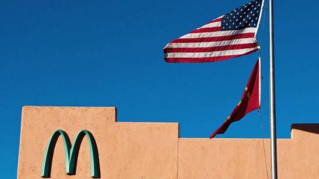 McDonald's ve Amerikan bayrağı