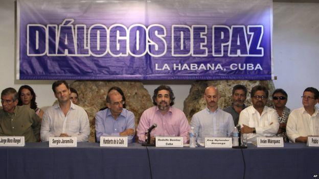 Farc negotiators in Havana, Cuba. May 2015
