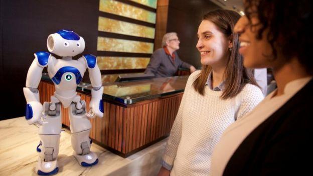 Nao robot in Hilton hotel