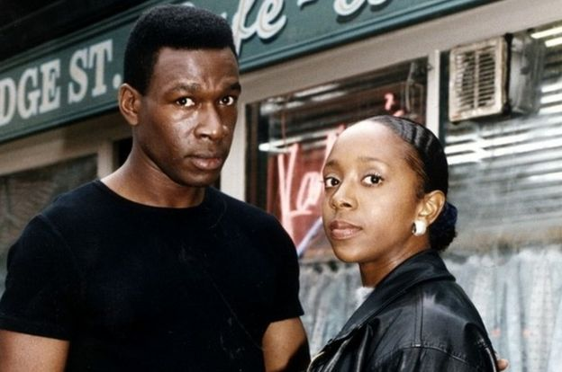 Alan Jackson (Howard Antony) and Frankie Pierre (Sian Blake) in an EastEnders promo shot