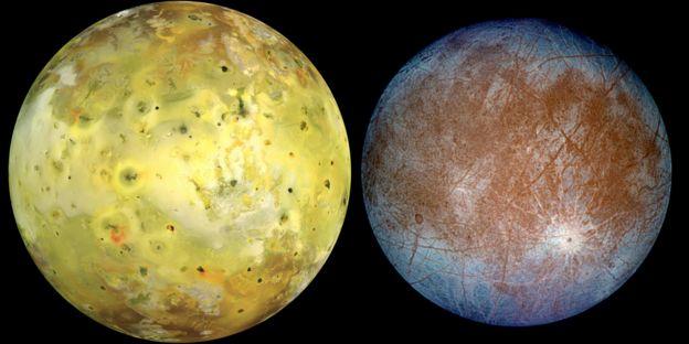 Lunas Ío y Europa