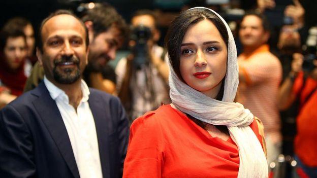 El director y la protagonista de la película
