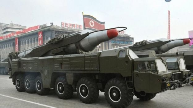 A Musudan missile on parade in North Korea (2010)