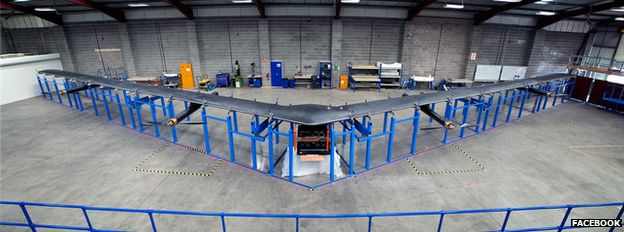 Facebook builds drone for net access...