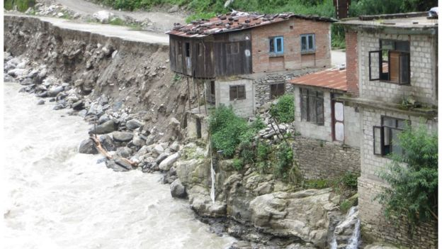 The northern end of Barabise town in Nepal