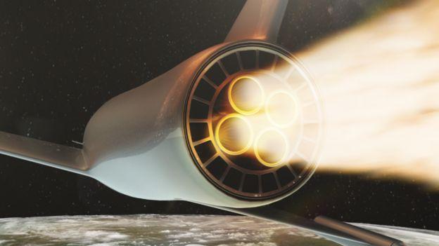 Animazione ancora di un velivolo ipersonico