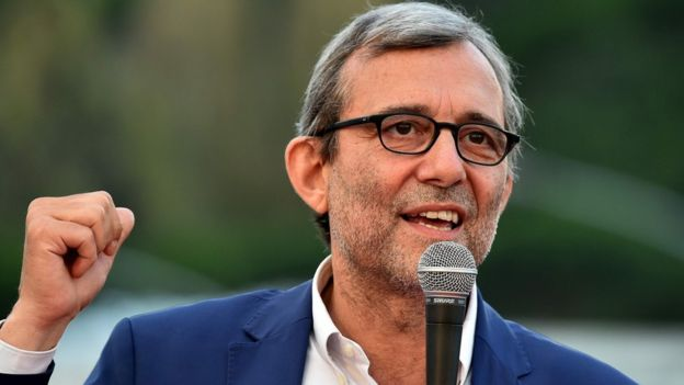 Roberto Giachetti, the Democratic Party (PD) candidate for the mayoral elections in Rome
