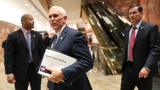 Vice President-elect Mike Pence at Trump Tower