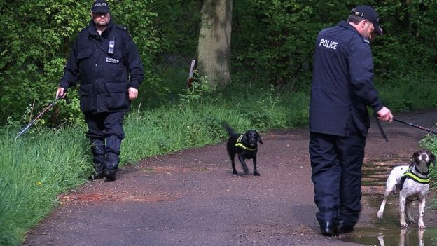 Police search Salden Wood