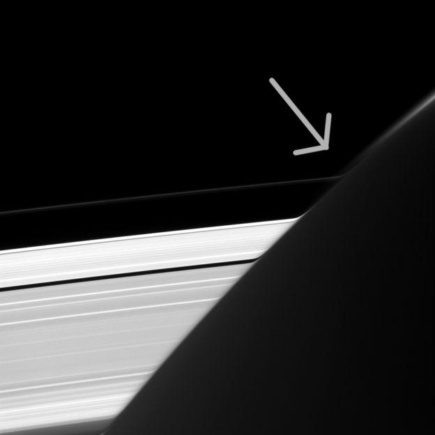 Curvatura de anillos de Saturno