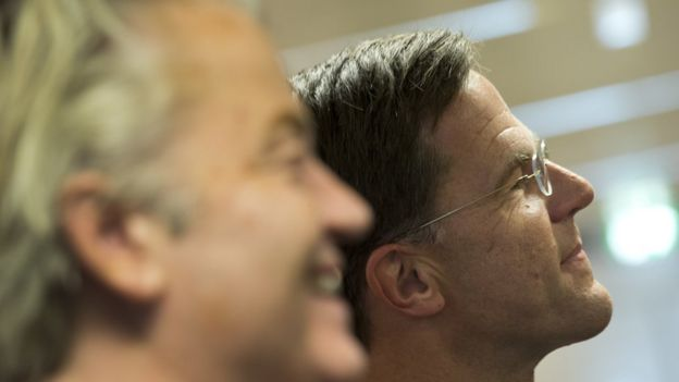 Geert Wilders y Mark Rutte
