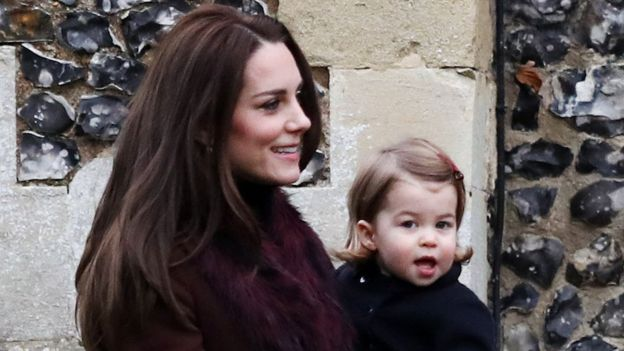 Duchess of Cambridge with Princess Charlotte