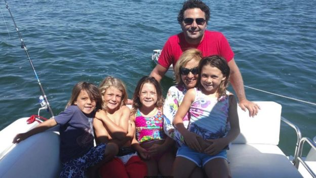 Chris Hale e a família