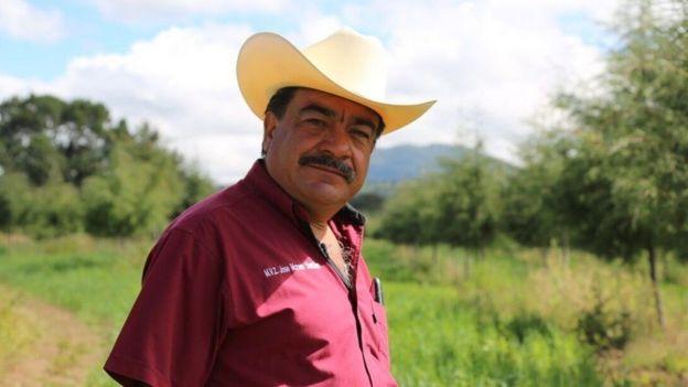 José Moreno Sanchez em sua fazenda