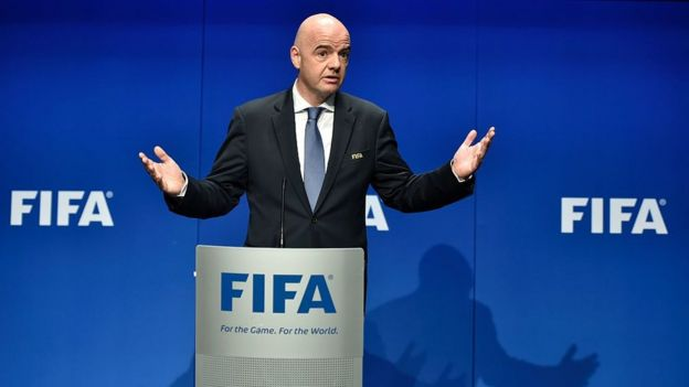 Gianni Infantino is seen as supporting change in Caf
