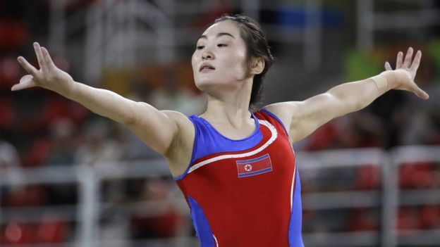 Hong Un Jong uwanjani Rio