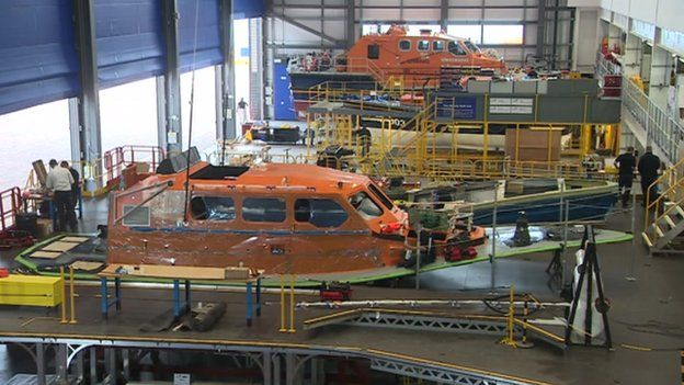 Lifeboats being built