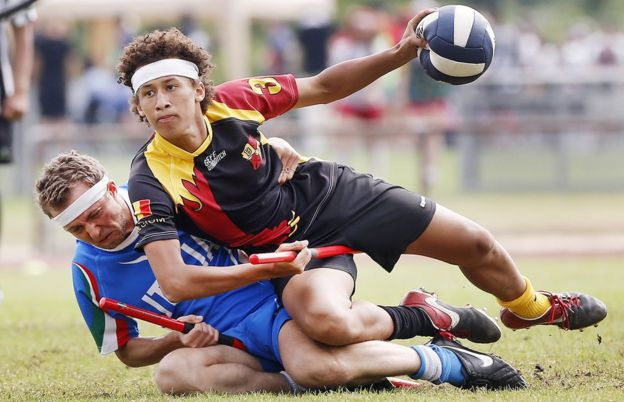 Italy versus Belgium at the Quidditch World Cup in July 2016