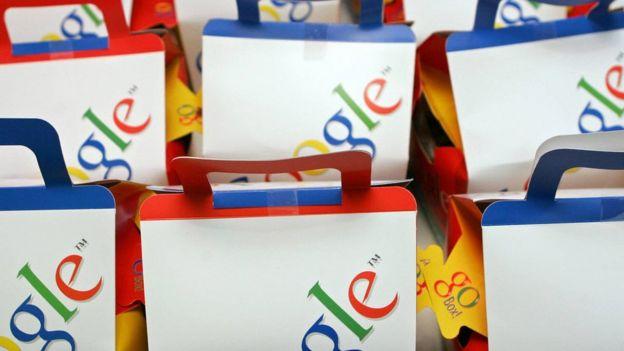 bolsas con el logo de Google