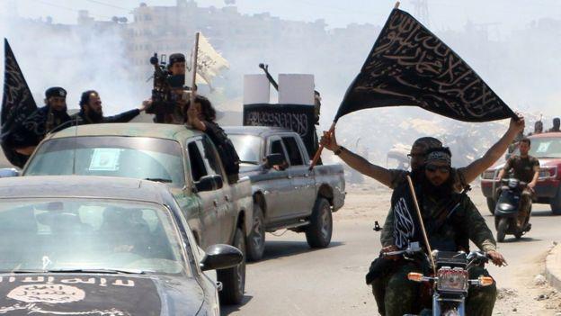 Militantes de Al Qaeda en Siria