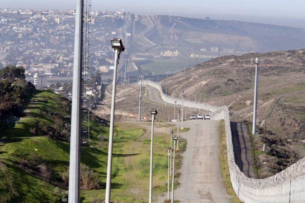 Valla fronteriza entre Estados Unidos y México