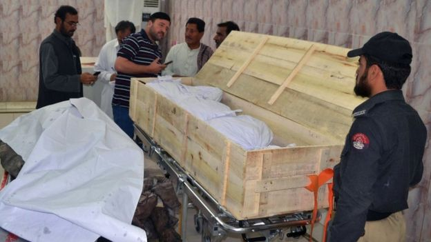 The bodies were taken to a morgue in Quetta, 22 May