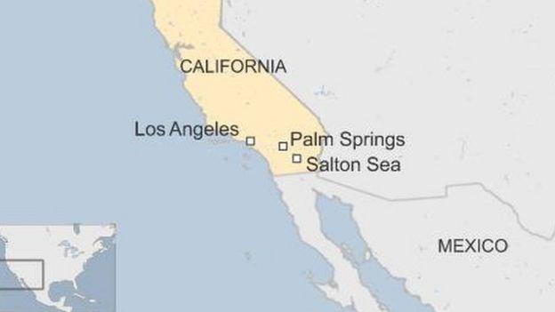 Mapa del sur de California