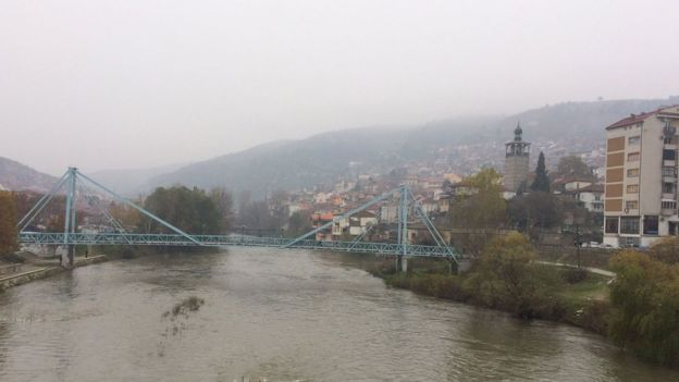 River and bridge in Veles