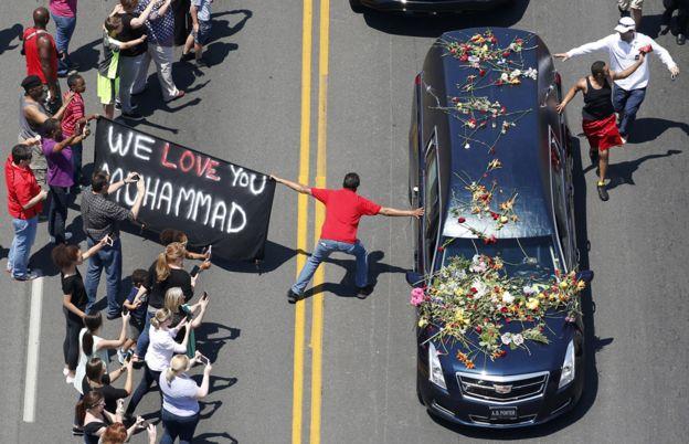 Funeral de Mohamed Alí